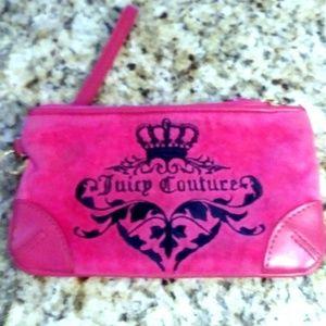 Juicy Couture Pink Wristlet Clutch Purse